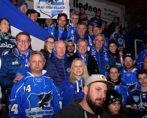 VSV Fans mit BM Günther Albel